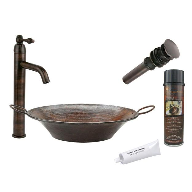 premier copper products all-in-one round miners pan vessel hammered