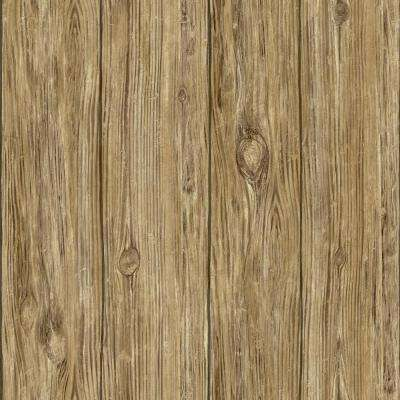 Peel   Stick   Wood   Wallpaper   Decor   The Home Depot Brown Mushroom Wood Peel and Stick Wallpaper
