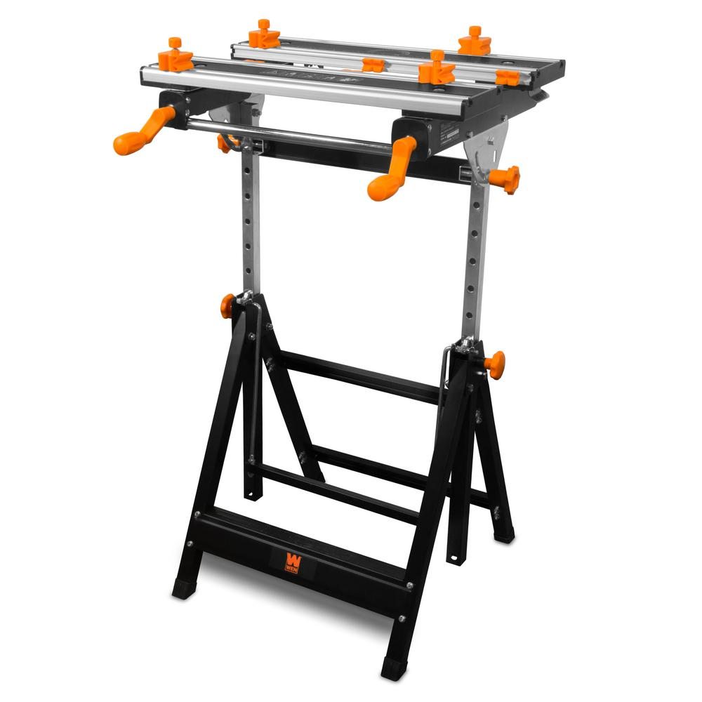 2 Ft Adjustable Tilting Steel Portable Workbench And Vise