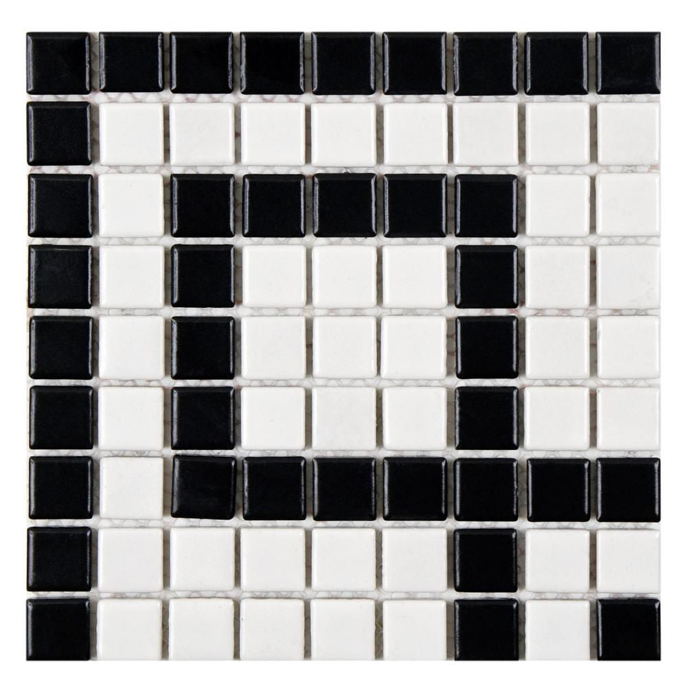 metro hex matte white with flower 10 1 4 in x 11 3 4 in x 5 mm porcelain mosaic tile 8 54 sq ft case fdxmhmwf 202974093