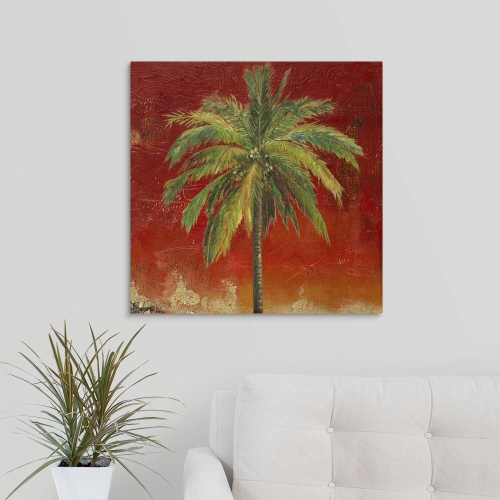 GreatBigCanvas La Palma On Red I By Patricia Pinto