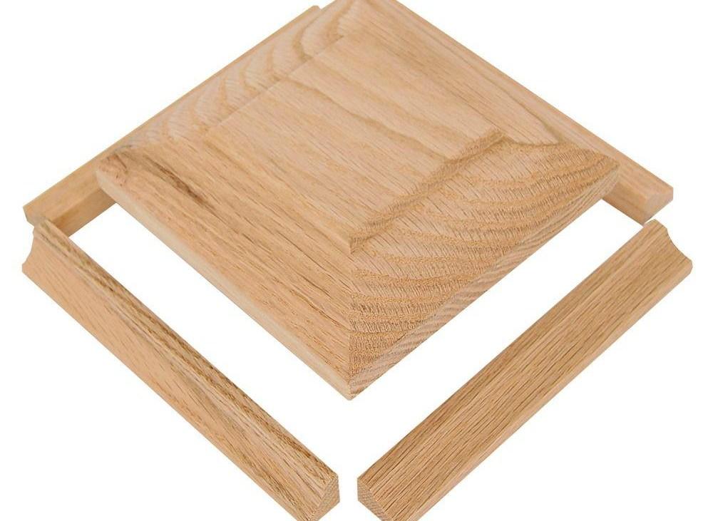 Stair Parts Nc 77 Poplar Radius Newel Cap Kit 9804P 000 0000L | Poplar Stair Treads Home Depot | Newel Cap | 000 0000L | Quarter Turn | Baluster | Rosette