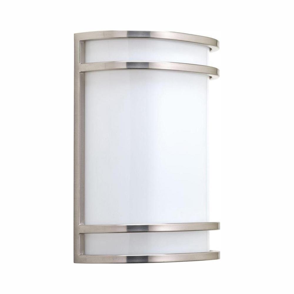 Progress Lighting 1-Light Brushed Nickel Integrated LED ... on Led Sconce Lighting id=37265