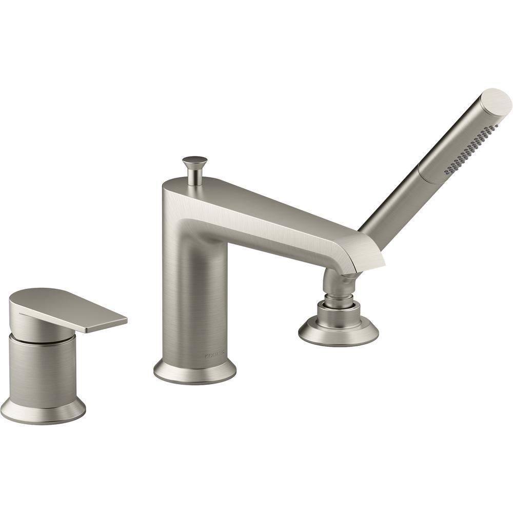 polished chrome deck mounted bathroom