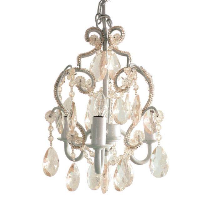 3 Light White Diamond Mini Chandelier