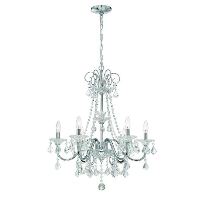 Home Decorators Collection 6 Light Chrome Crystal Chandelier 29360 Hbu The Depot