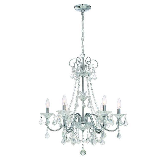 Home Decorators Collection 6 Light Chrome Crystal Chandelier 29360 Hbu The Depot