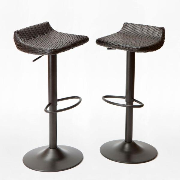 RST Brands Woven Wicker Patio Bar Stool  2 Pack  IP PEBST3205 DECO     RST Brands Woven Wicker Patio Bar Stool  2 Pack
