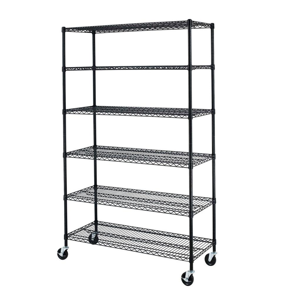 6 tier heavy duty wire shelving rack