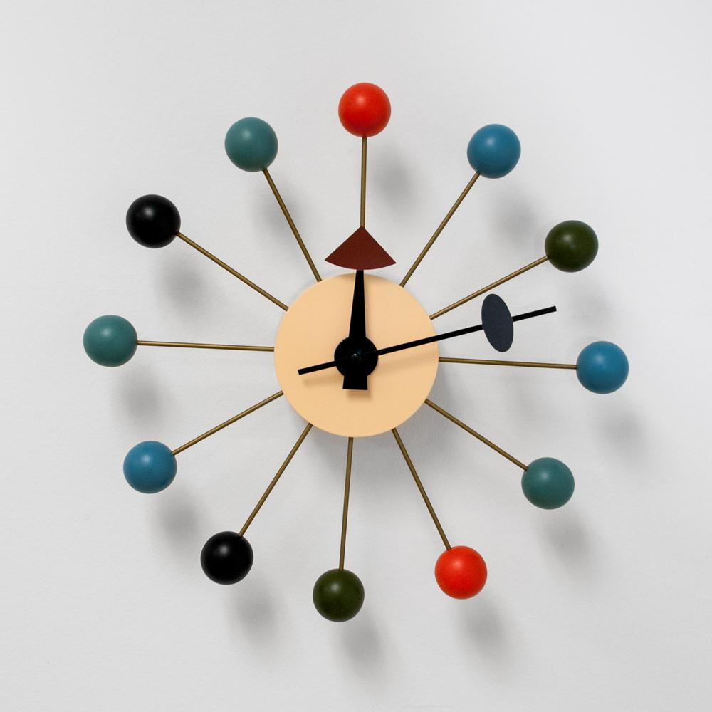 Mod Made Bubble Multi Color Mid Century Modern Wall Clock Mm Cl 09 Multi The Home Depot