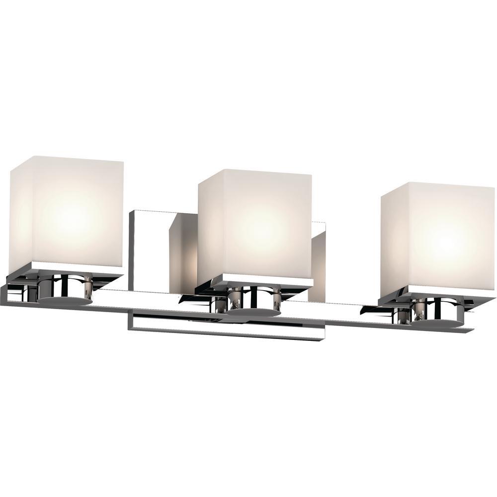 Volume Lighting Sharyn 3-Light 8 in. Chrome Indoor ... on Bathroom Wall Sconce Lighting id=28637