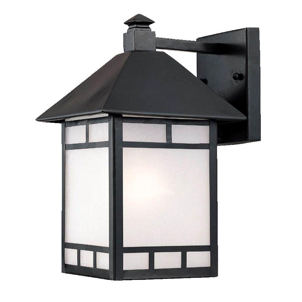 Acclaim Lighting Artisan Collection 1-Light Matte Black ... on Outdoor Lighting Fixtures Wall Mounted id=97814