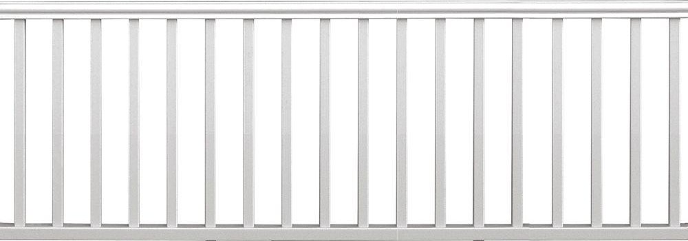 Veranda Traditional 8 Ft X 36 In White Polycomposite Rail Kit | Home Depot Hand Railing Exterior | Composite | Pressure Treated | Wrought Iron Railing | Baluster | Metal