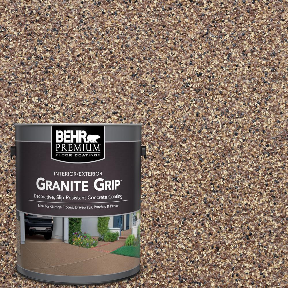 BEHR Premium 1 Gal Tan Granite Grip Decorative InteriorExterior Concrete Floor Coating 65501