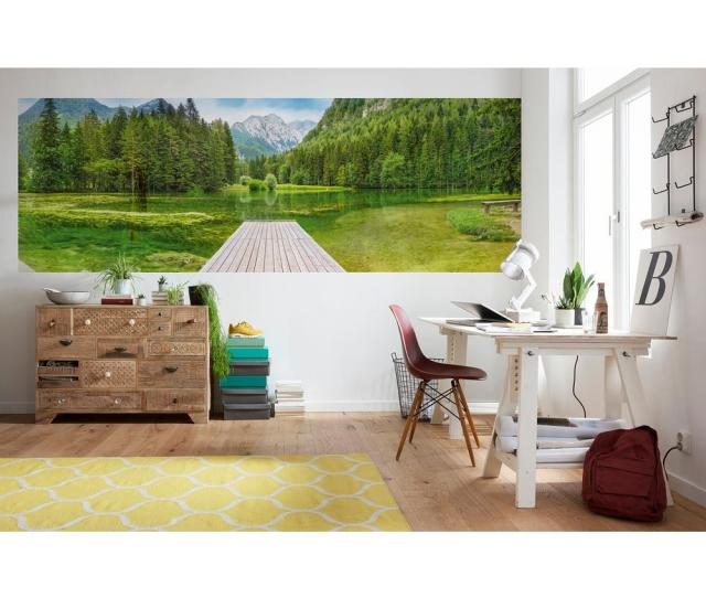 Komar Scenic Landscapes Green Lake Wall Mural