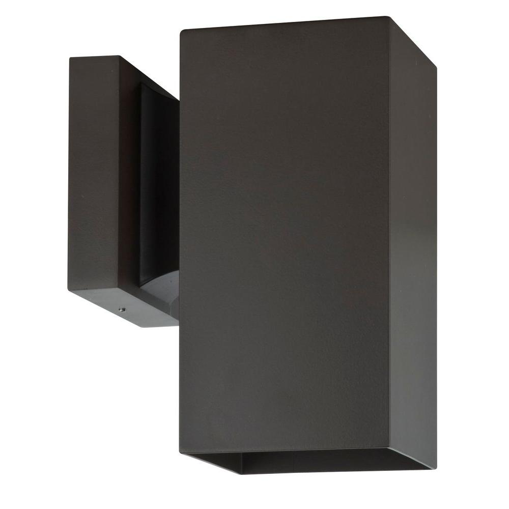 Luminance Architectural Exterior 1-Light Oil Bronze Wall ... on Contemporary Outdoor Wall Sconces id=71376