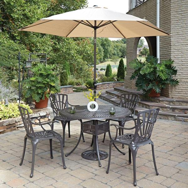 home depot 5 piece patio dining sets Home Styles Largo 5-Piece Patio Dining Set-5561-3286 - The