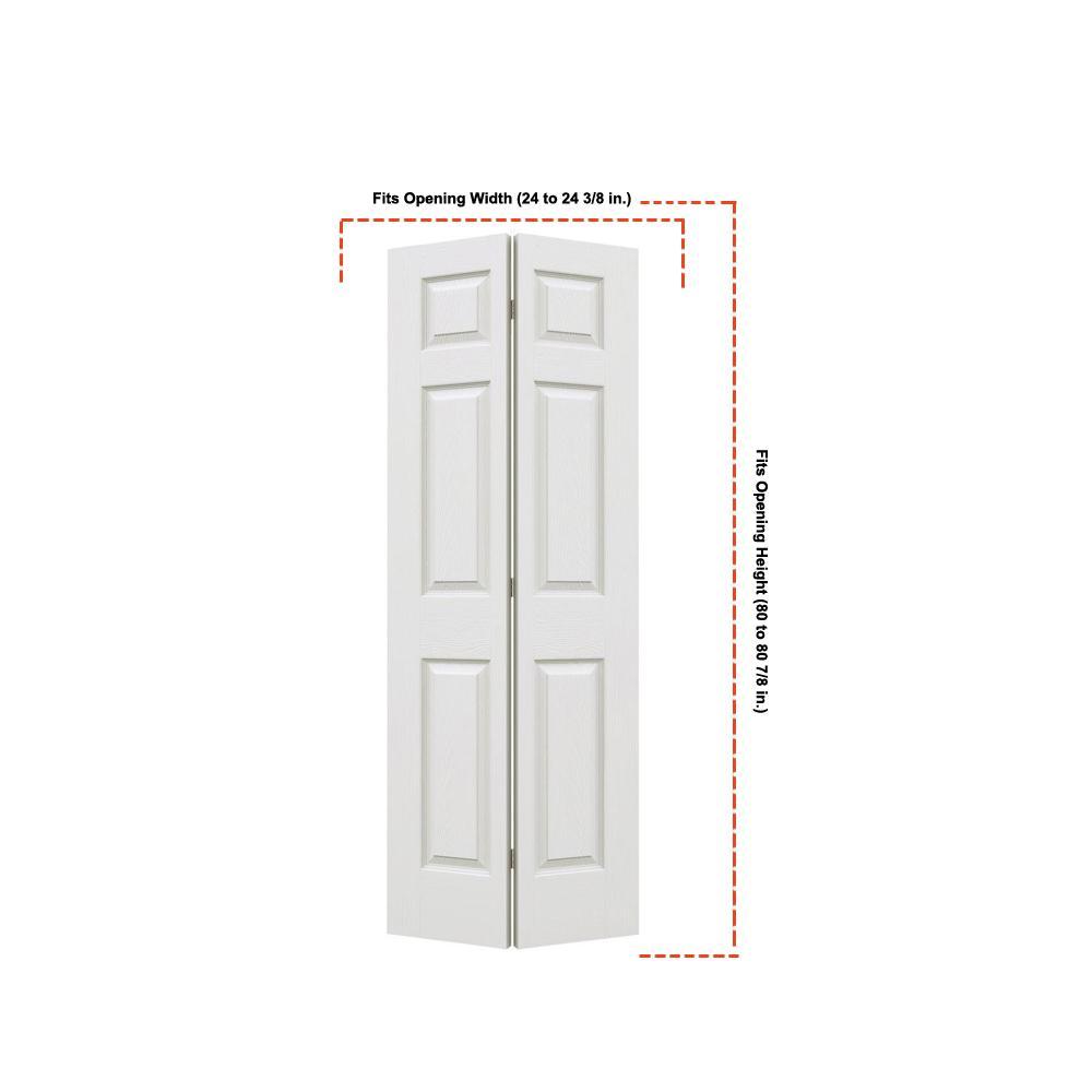 jeld wen 24 in x 80 in primed flush hardboard closet bi on 24 In X 80 In Colonist Primed Textured Molded Composite id=14391
