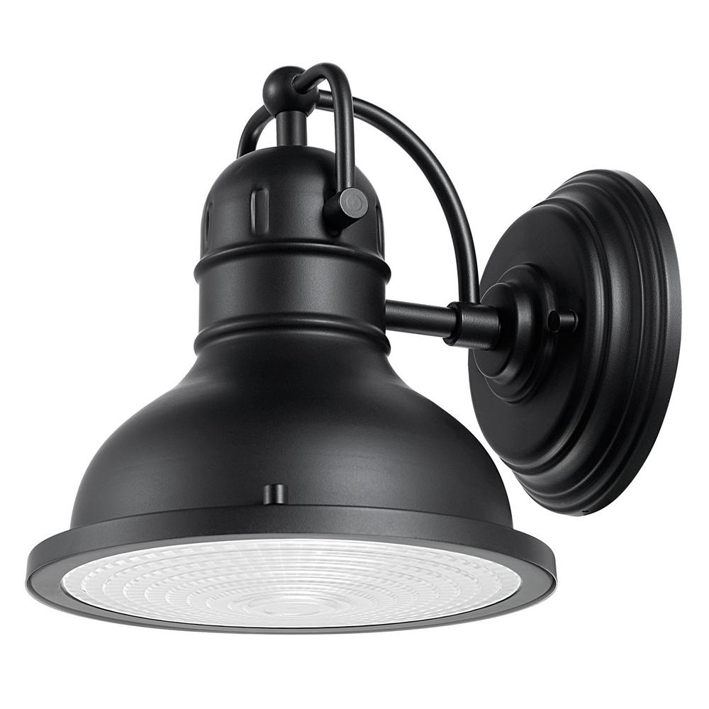Globe Electric Harbor 1-Light Black Outdoor Wall Sconce ... on Sconce Outdoor Lighting id=36832