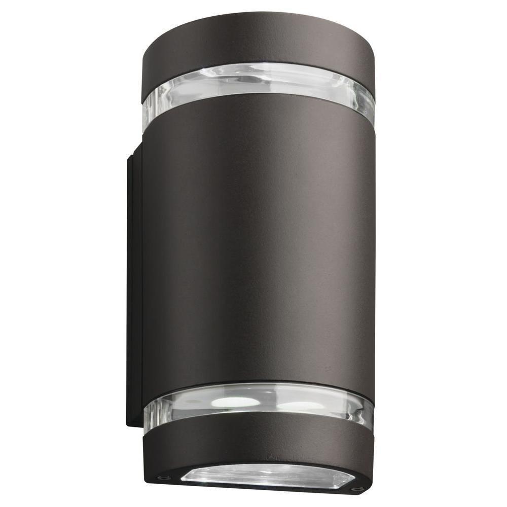 Lithonia Lighting OLCW2 14-Watt Bronze Outdoor Integrated ... on Sconce Outdoor Lighting id=32978