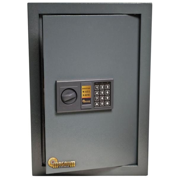 Security   Wall   Floor Safes   Safes   The Home Depot 0 58 cu  ft  Wall Security Safe