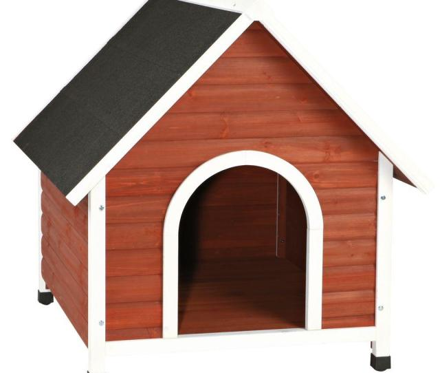 Nantucket Medium Dog House In Brown White