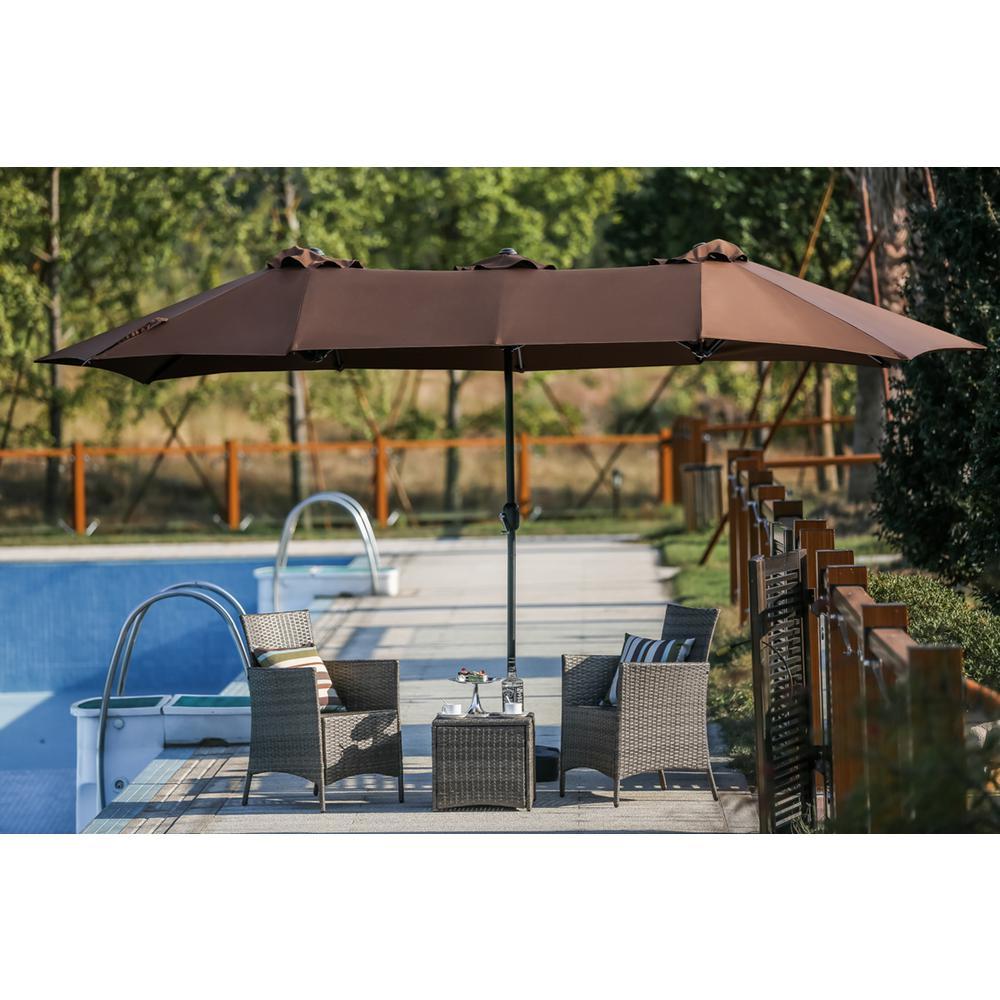 brown patio umbrella