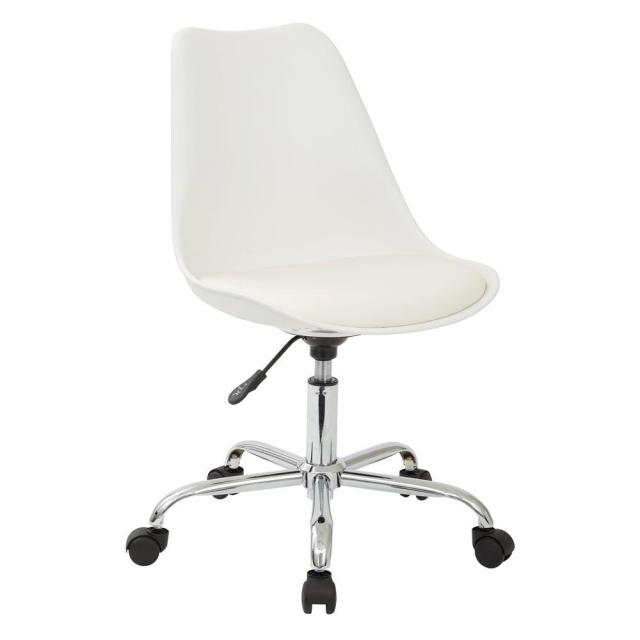 Ave Six Emerson White Office Chair