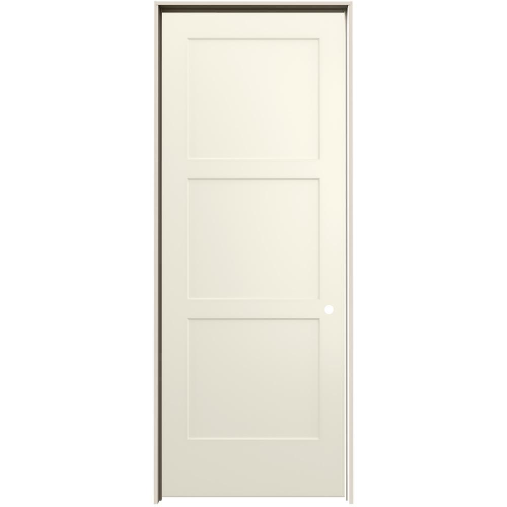 jeld wen 36 in x 96 in birkdale vanilla paint on 36 In X 96 In Composite White Interior Bi Fold Door id=58029