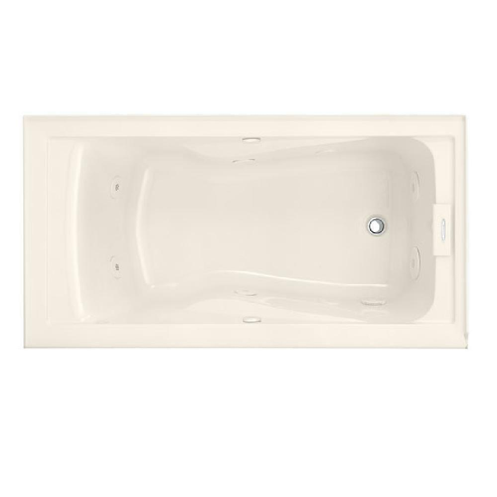 American Standard Lifetime 60 In X 32 In Whirlpool Tub With Right Drain And Integral Apron In