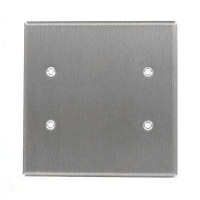 2 Gang Standard Size Duplex Receptacles Nylon Wall Plate Stamped Emergency