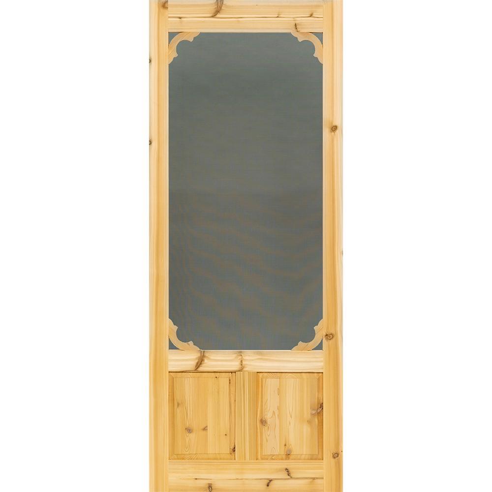 bay 32 in x 80 in woodland cedar screen door on Bay 32 In X 80 In 32 In Clear 6 Panel Solid id=16588