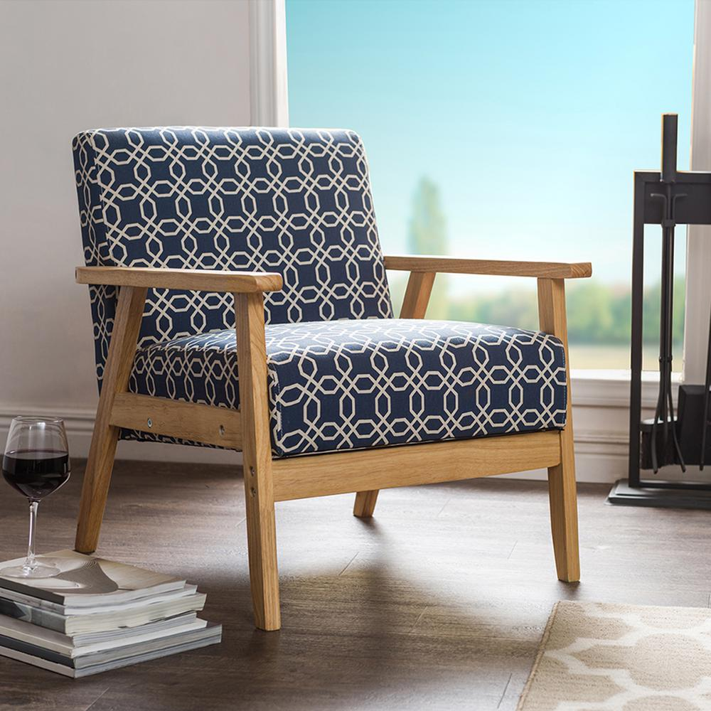 Navy Blue Accent Chairs Arms