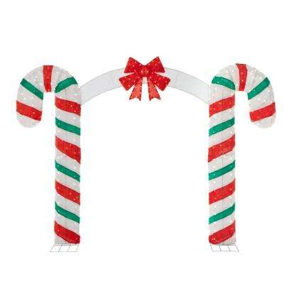 Outdoor Christmas Decorations Candy Cane Arch