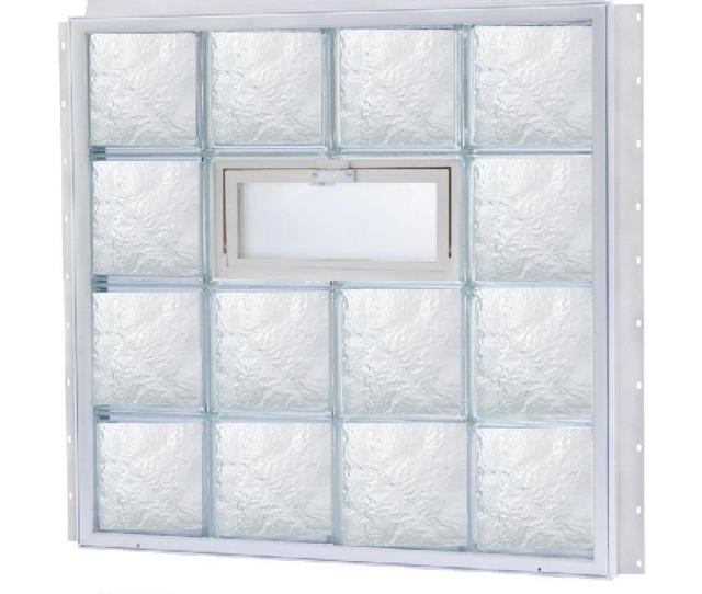 Tafco Windows  In X  In Nailup Vented Ice Pattern Glass