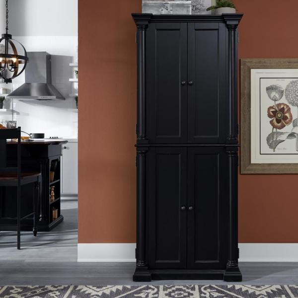 Homestyles Beacon Hill Black Kitchen Pantry 5103 69 The Home Depot