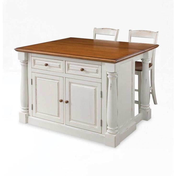 home styles monarch white kitchen island with seating-5020-948 - the