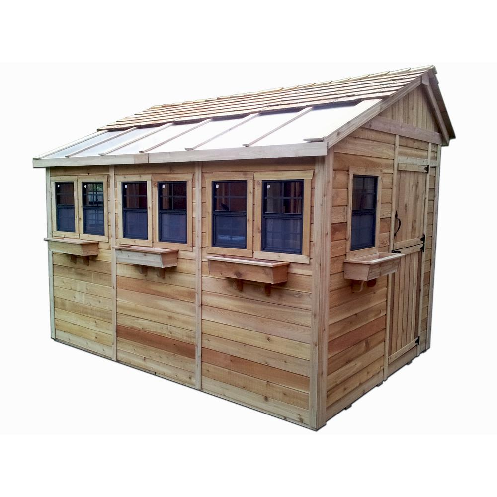 Outdoor Living Today Sunshed 8 ft. x 12 ft. Western Red ... on Garden And Outdoor Living id=91143