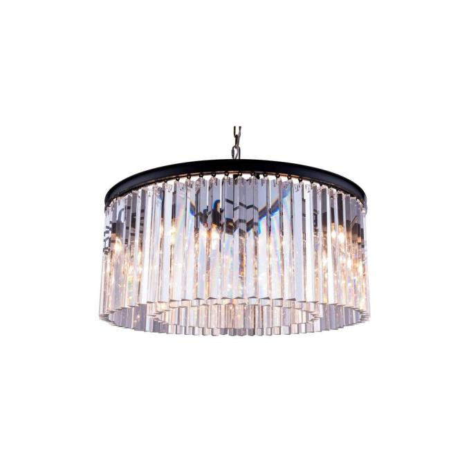 Elegant Lighting Sydney 8 Light Mocha Brown Chandelier With Clear Crystal