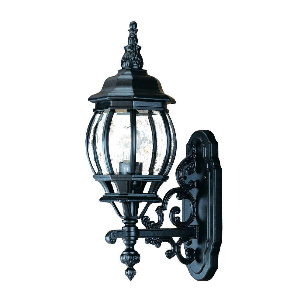 Acclaim Lighting Chateau Collection 1-Light Matte Black ... on Outdoor Lighting Fixtures Wall Mounted id=62128