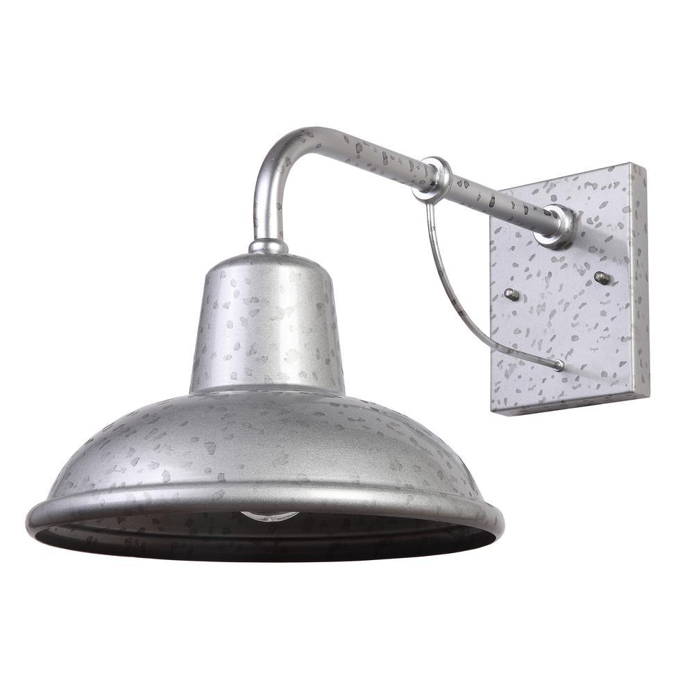 1 light galvanized outdoor barn light sconce Galvanized Barn Light id=80541
