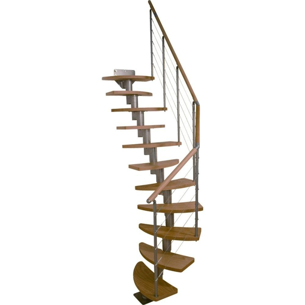 Dolle Rome 25 In Modular 11 Tread Stair Kit 68300 The Home Depot | Home Depot Stair Banister | Wrought Iron Stair | Metal | Deck Railing | Railing Kits | Railing Systems
