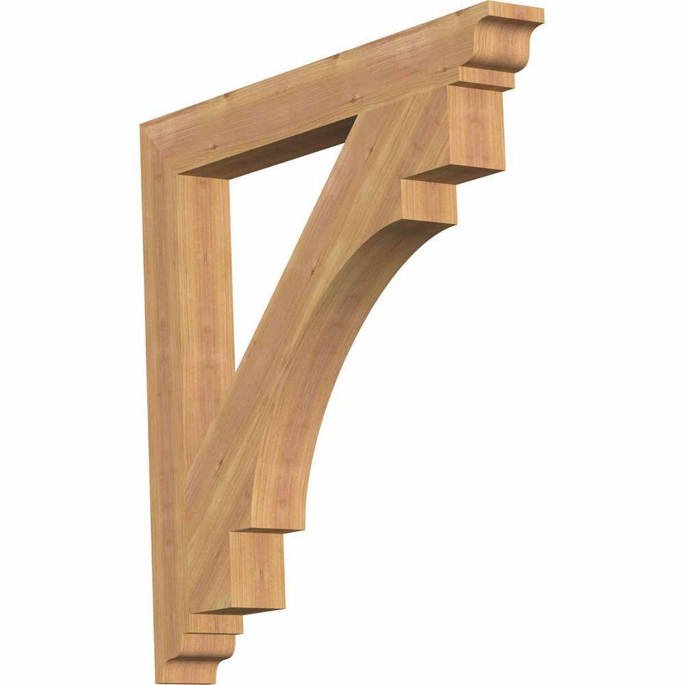 ̿̿̿(•̪ )3.5 in. x 32 in. x 32 in. Western Red Cedar Merced ...