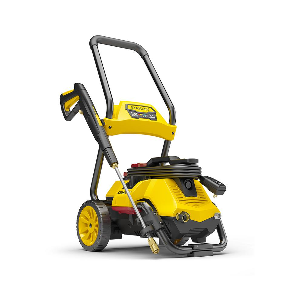 Stanley 2 050 Psi 1 4 Gpm Electric Pressure Washer Slp2050 The Home Depot