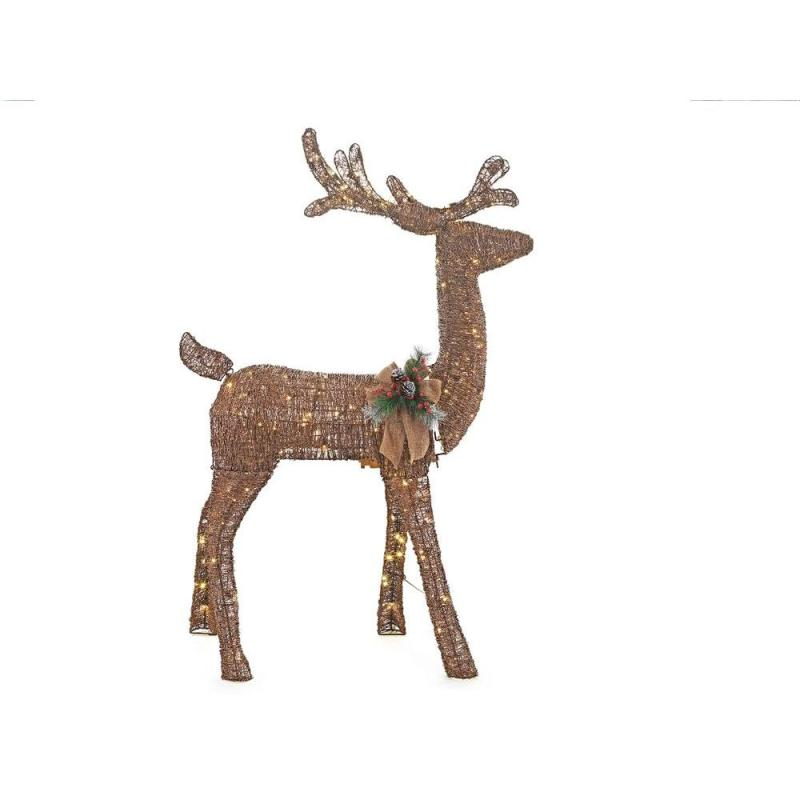 Home Accents Holiday 5 Ft Pre Lit Gvine Animated Standing Deer