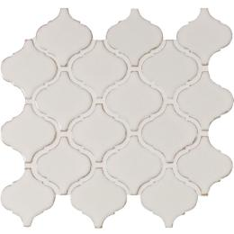 MSI Bianco Arabesque 9.84 in. x 10.63 in. x 6mm Glazed Ceramic Mesh-Mounted Mosaic Tile (10.95 sq. ft. / case)