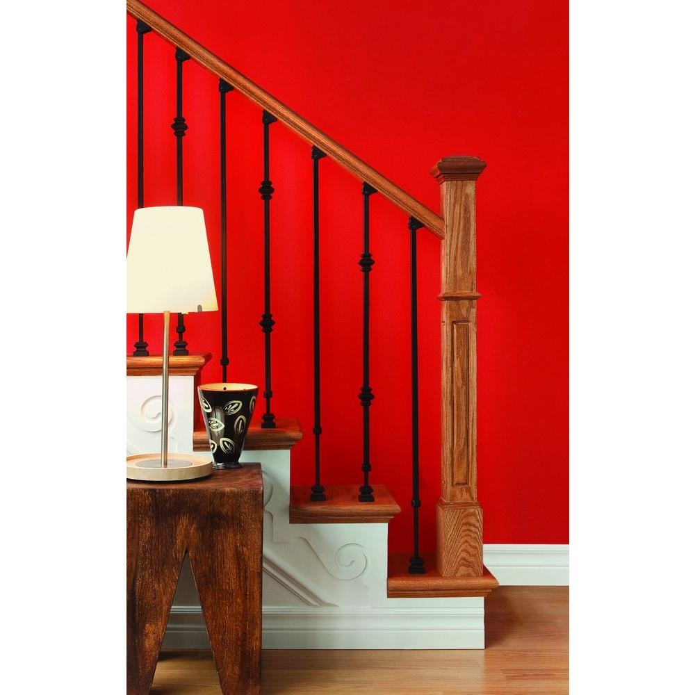 Ole Iron Slides 1 2 In X 1 2 In X 30 1 4 In To 38 In Satin | Indoor Wrought Iron Railings Home Depot | Cast Iron | Balcony | Iron Baluster | Wood | Iron Stair Rail