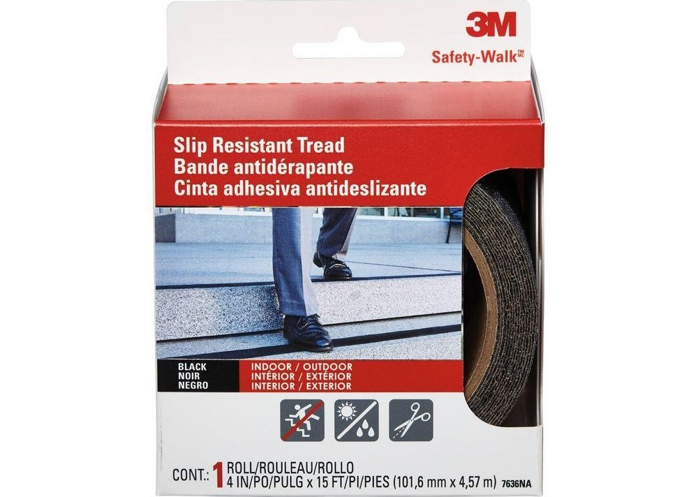 3M 4 In X 15 Ft Safety Walk Step And Ladder Tread Tape 7636Na | Outdoor Stair Treads Home Depot | Anti Slip Stair | Rugs | Non Slip | Tread Covers | Pressure Treated