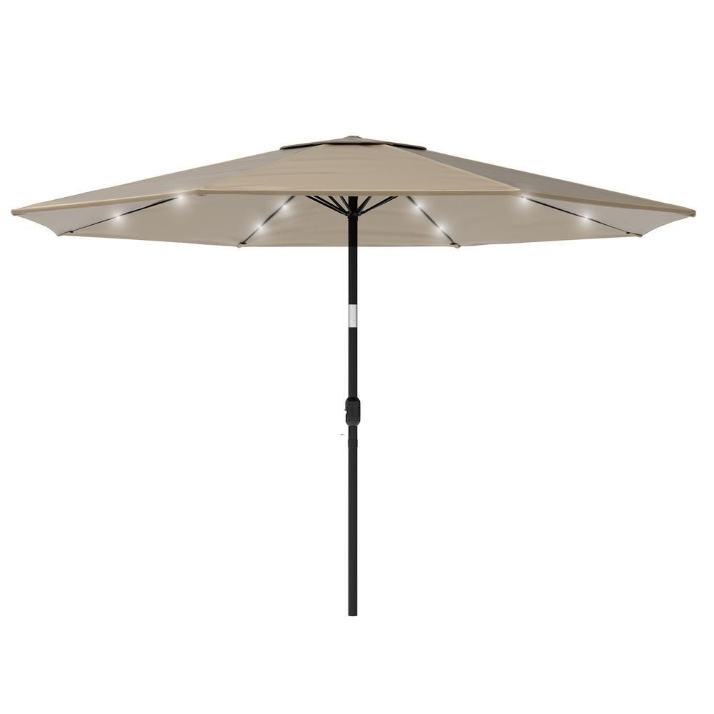 10 ft solar powered patio umbrella