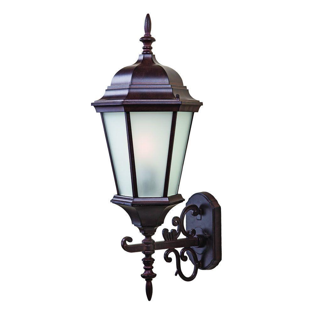 Acclaim Lighting Richmond Collection 1-Light Burled Walnut ... on Outdoor Lighting Fixtures Wall Mounted id=44552